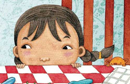 Illustration detail from 'My Mother's Kitchen' by Emila Yusof (Oyez!Books (Malaysia), 2013)