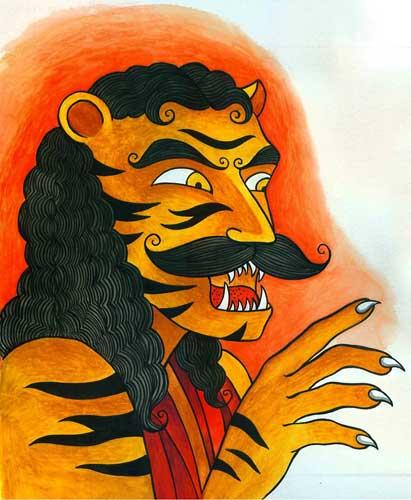 Dokkhin Rai by Proiti Roy from 'Bon Bibi's Forest', written by Sandhya Rao (Tulika Books)