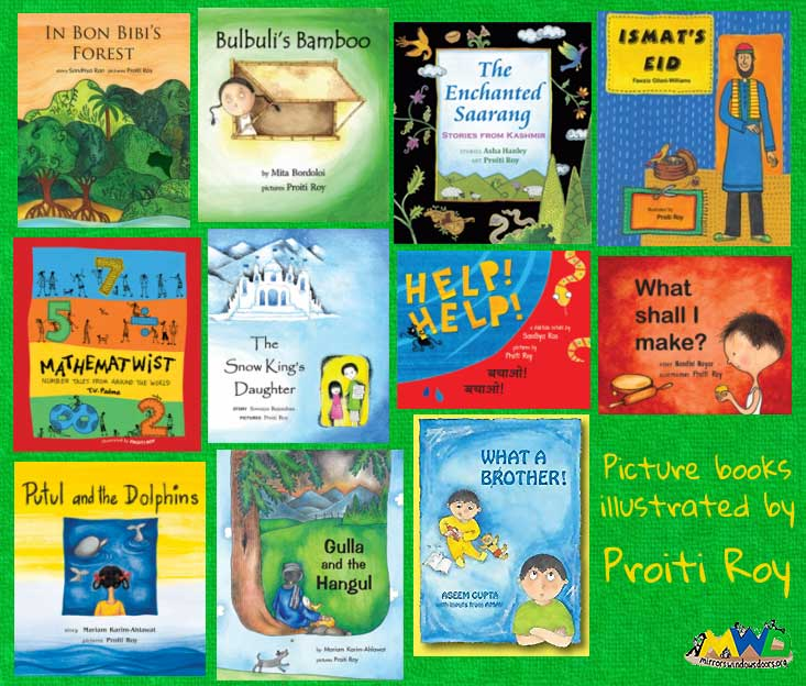 Picture books illustrated by Proiti Roy, all published by Tulika Books, India