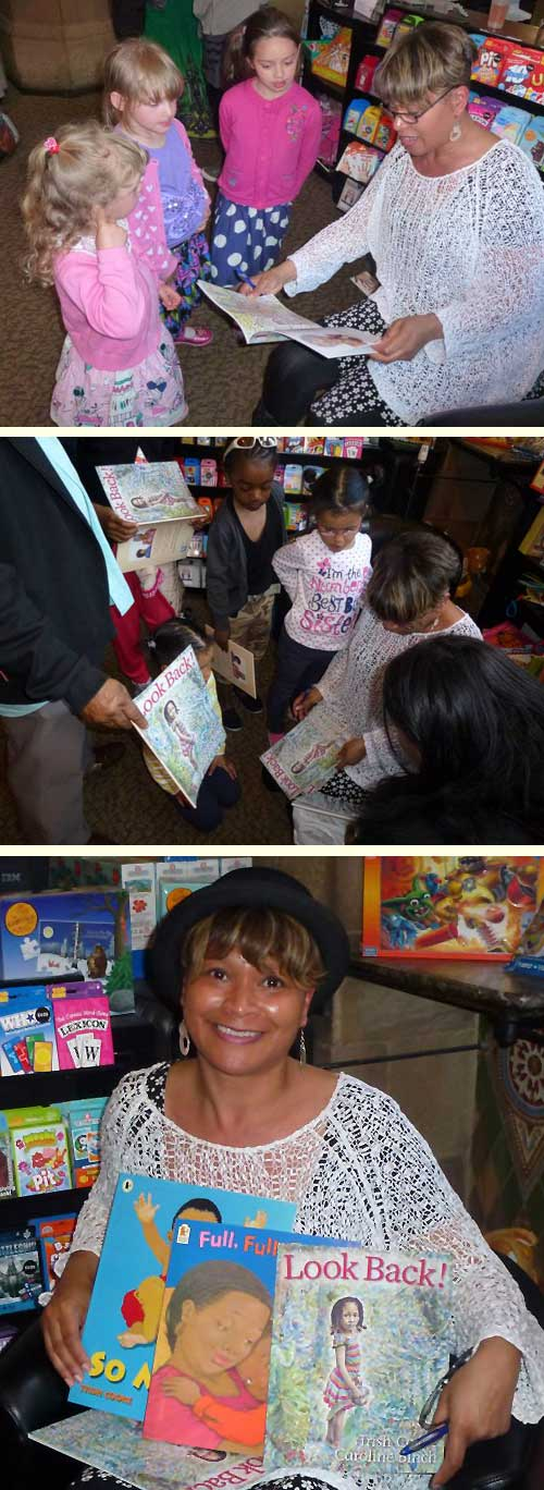 Trish Cooke at the launch of her picture book Look Back!