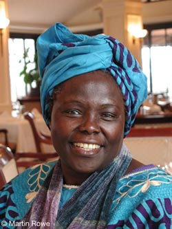 Wangari Maathai - photo credit: Martin Rowe