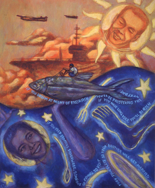 Illustration by Carl Angel from 'Honoring Our Ancestors: Stories and Pictures by 14 Artists'