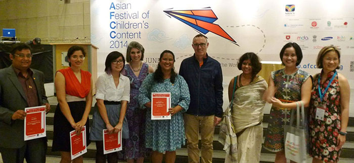 Winners and jury of the SABA 2014 at AFCC