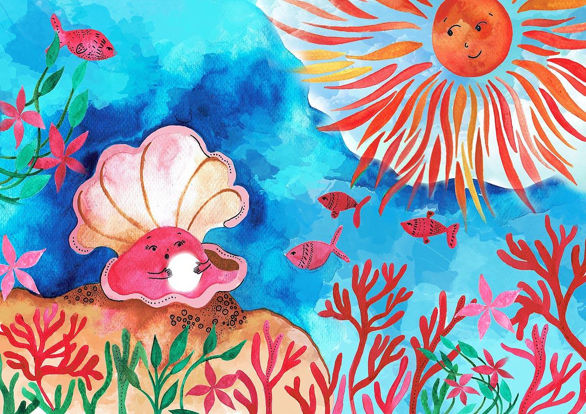 Illustration by Diane Cojocar for Summer Edward's original story 'Blue', presented on Mirrors Windows Doors, December 2016