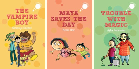 3 'hOle Book' early readers from Duckbill (India) - The Vampire Boy; Maya Saves the Day; and Trouble with Magic