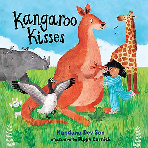 Kangaroo Kisses, written by Nandana Dev Sen, illustrated by Pippa Curnick (Otter-Barry Books, 2016) - great bedtime story