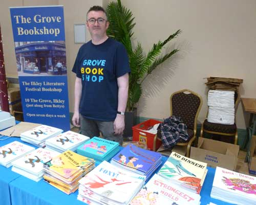 Jessica Souhami's books on sale at her presentation for the Children's Bookshow in Ilkley, October 2015