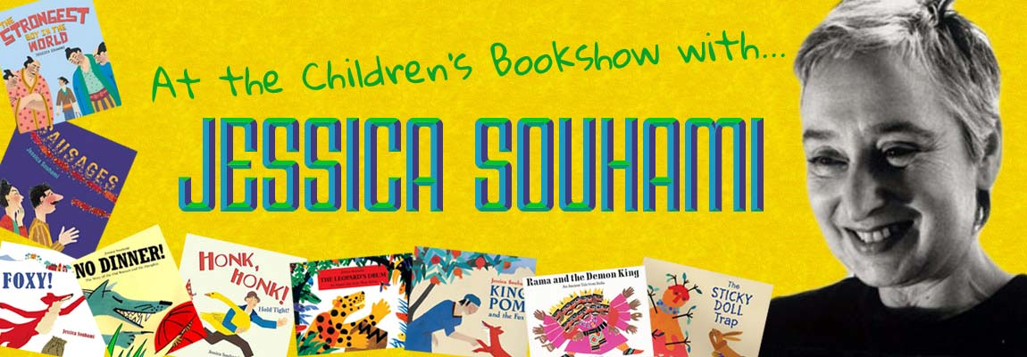 MWD meets Jessica Souhami at the Children's bookshow - banner