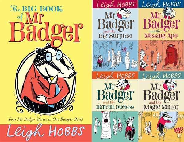 Books in Leigh Hobbs' Mr Badger series