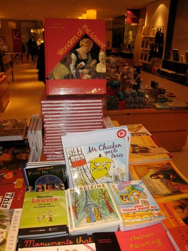 Mr Chicken Goes to Paris by Leigh Hobbs in the Louvre bookshop
