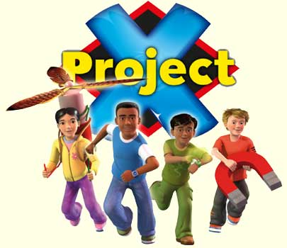 Characters from Project X reading programme published by Oxford University Press