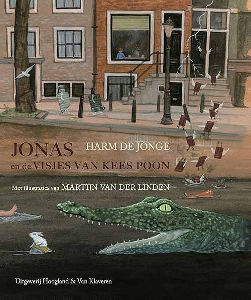 Jonas en de visjes van Kees Poon ('Jonas and the fishes of Kees Poon') illustrated by Martijn van der Linden (Netherlands) - BIB Plaque 2015 - written by Harm de Jonge
