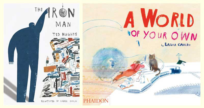 Laura Carlin, winner of the BIB 2015 for illustrations from The Iron Man (written by Ted Hughes) and A World of Your Own