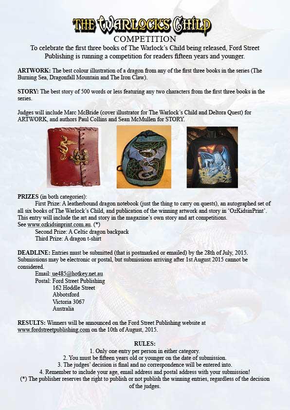 Ford Street Publishing (Australia): Warlock's Child Competition