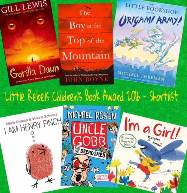 2016 Little Rebel Children's Book Award - shortlist