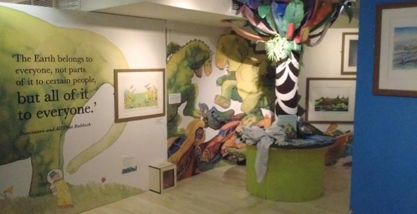 Painting With Rainbows - A Michael Foreman Exhibition at Seven Stories: 'Dinosaurs and All That Rubbish'